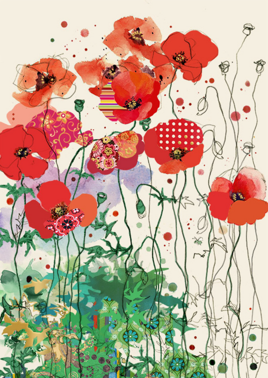 Red Field Poppies by Jane Crowther B031