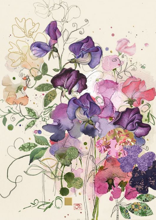 Sweet Peas by Jane Crowther B043