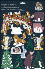 Frosty Forest Paw Prints in the Snow Pop and Slot Advent Calendar POP072