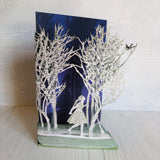 Girl in the Wood - Scissors Paper Tree Laser Cut Card GC2096