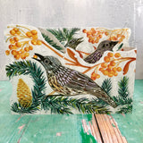3D Autumn  Fieldfare by Printmaker Judy Lumley