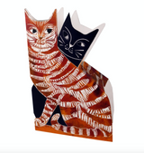 3D Love Cats by Printmaker Judy Lumley