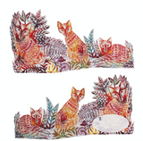3D Three Foxes by Printmaker Judy Lumley