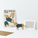 Labrador Pop Out Decoration and Card