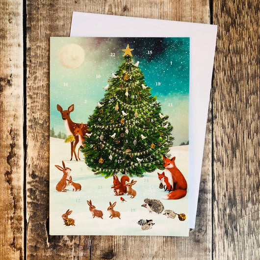 Let it Snow Mini Advent Calendar Card