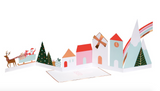 Festive Christmas Village Concertina Card