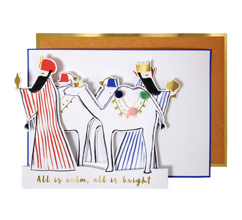 Three Wise Men Christmas Concertina Card