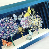 Message in a Bottle 3D Card - Butterflies and Allium