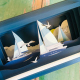 Message in a Bottle 3D Card - Sailing MIB120