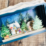 Message in a Bottle 3D Card Christmas Village Snowman XMIB034