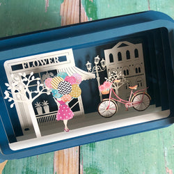 Message in a Bottle 3D Card Bicycle and Balloons