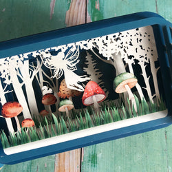 Message in a Bottle 3D Card Fairy Toadstool