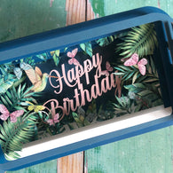 Message in a Bottle 3D Card Tropical  Happy Birthday