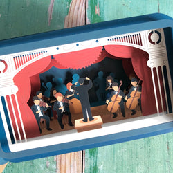 Message in a Bottle 3D Card Orchestra