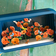 Message in a Bottle 3D Card - Poppies