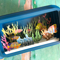 Message in a Bottle 3D Card - Tropical Fish