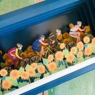 Message in a Bottle 3D Card - Sunflower Cyclists MIB116