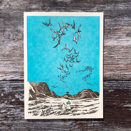 Moomin Murmuration Letterpress Card