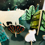 Northern Lights Polar Bear Pop and Slot Mini Festive Scene