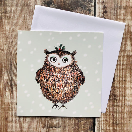 Festive Owl, Una Joy Christmas Charity Pack (Eight Cards) WX411*
