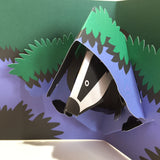 A beautiful Pop Up Badger Greeting Card by Two To Tango - blank inside and suitable for any occasion
