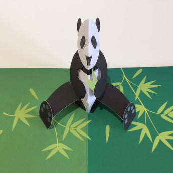 Pop Up 3D Panda Card by Two To Tango