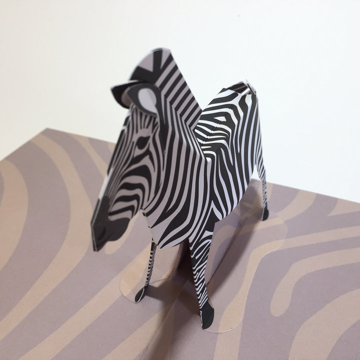 Pop Up 3D Zebra Card by Two To Tango