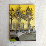 Girls in the Wood - Scissors Paper Tree Lasercut Card GC2095