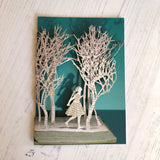 Girl in the Wood - Scissors Paper Tree Lasercut Card by Roger La Borde - GC2096