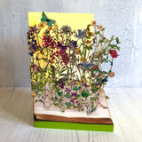 Wild Flowers of the British Isles - Scissors Paper Tree Lasercut Card GC2093