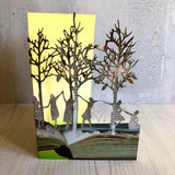 Girls in the Wood - Scissors Paper Tree Laser Cut Card GC2095