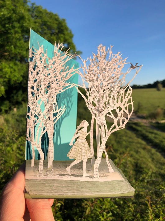 Girl in the Wood - Scissors Paper Tree Lasercut Card GC2096
