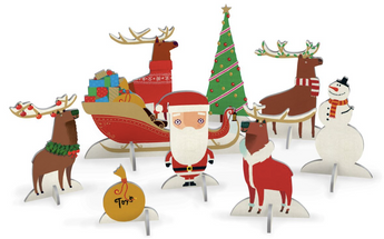 Santa and his Reindeer Pop and Slot Scene