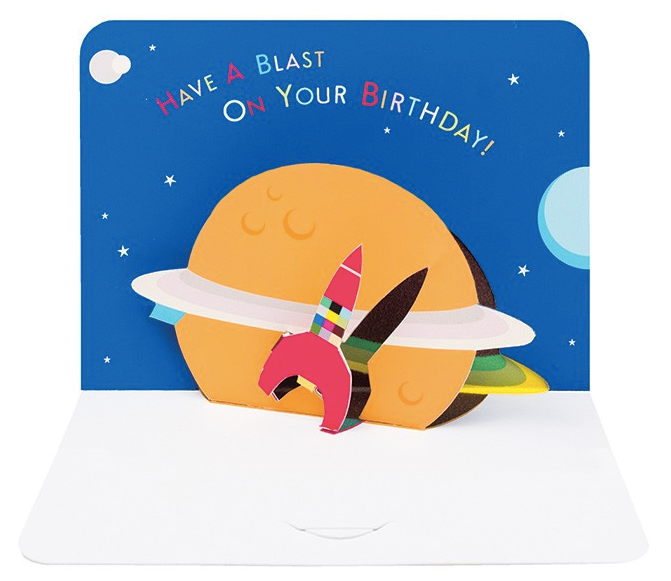 Birthday Space Rocket by Form, The Art File