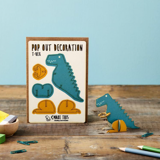 Dinosaur Pop Out Decoration and Card