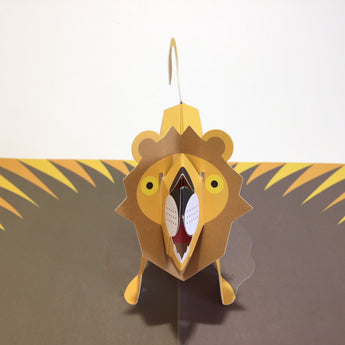 Pop Up 3D Lion Card by Two To Tango