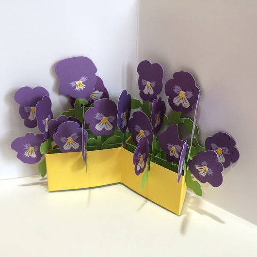 Pop Up Pansy Card by Two To Tango