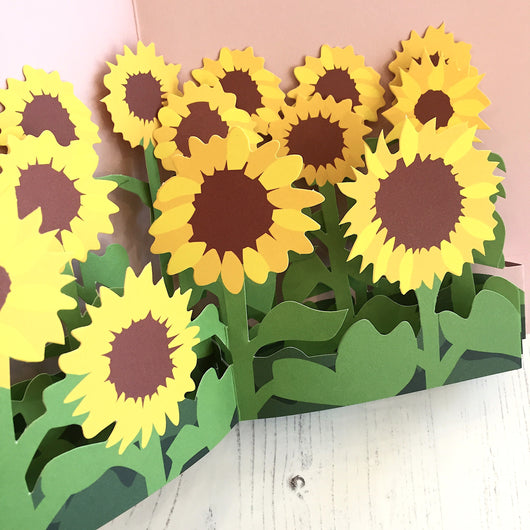 Pop Up 3D Field of Sunflowers Card by Two To Tango