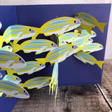 Pop Up 3D School of Fish Card by Two To Tango