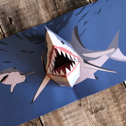 Pop Up 3D Shark Card by Two To Tango
