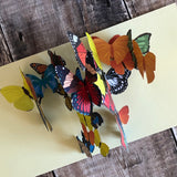 Pop Up 3D Kaleidoscope Butterfly Card