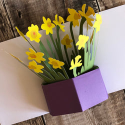 Pop Up Daffodil Card by Two To Tango