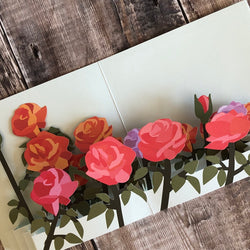 Pop Up 3D Field of Roses Card by Two To Tango