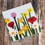 Pop Up 3D Field of Wild Flowers Card by Two To Tango