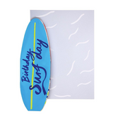 3D Happy Birthday Surfboard Concertina Card