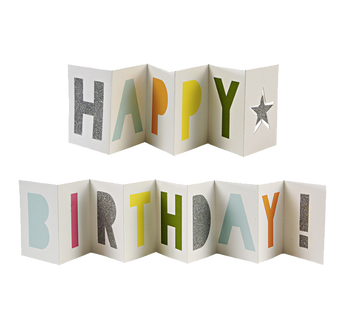 Happy Birthday Concertina Card