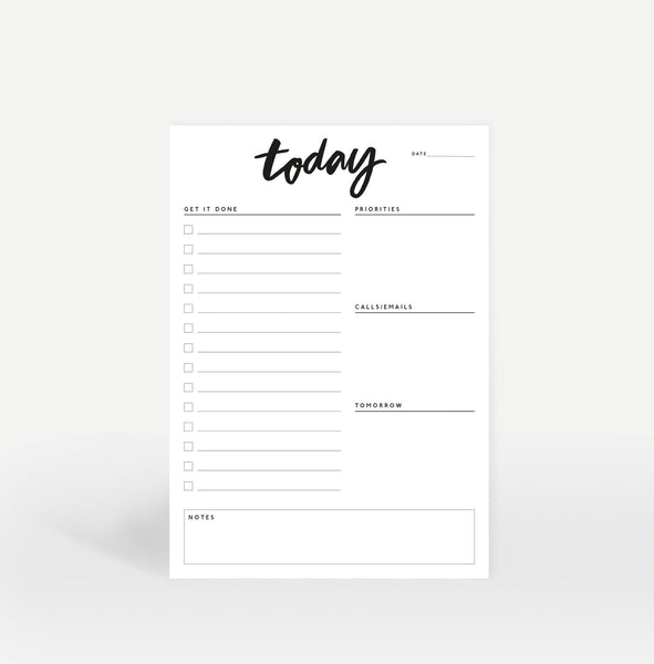 A5 'Today' Daily Planner