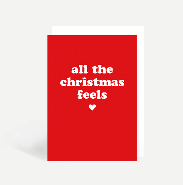 'Christmas Feels' Christmas Card Pack Of Eight