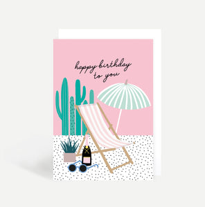 Deckchair Birthday Card