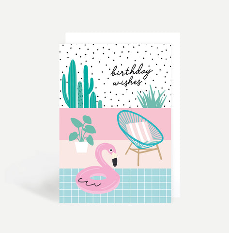 Poolside Birthday Card